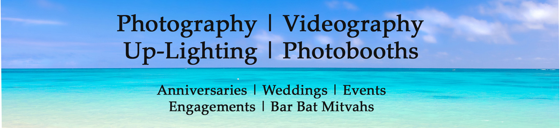 Wedding Videography Photographry Baltimore Maryland Banner